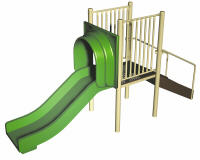 Freestanding straight slide structure