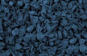 Caribbean Blue Rubber Mulch - Click for closeup view in separate window.