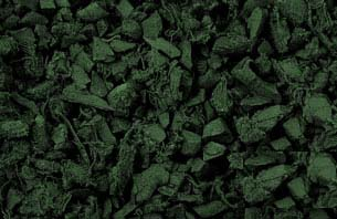Forest Green Rubber Mulch - Click for closeup view in separate window.