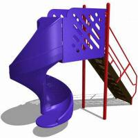 Freestanding spiral slide