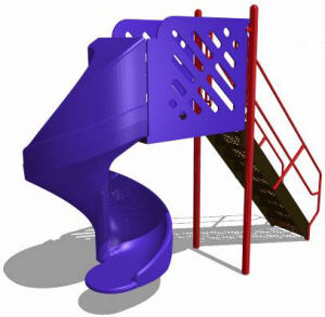 Commercial Playground Freestanding Spiral Slide
