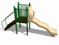 wave slide playground structure