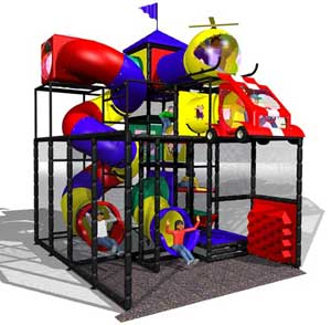 indoor soft contained playground feature