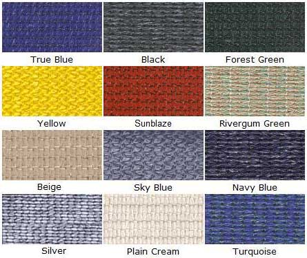 shade fabric colors